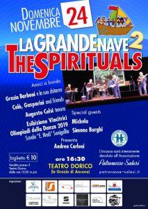 La grande nave 2, gruppo musicale The Spirituals. Locandina evento