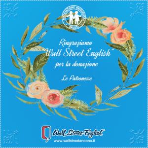 Ringraziamenti a wall street english, per la donazione